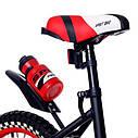 Велосипед двухколесный 16 дюймов 1687-16 черно-красный с корзинкой и светящимся колесом, фото 2