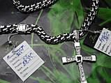 Серебряная цепочка с крестиком Торетто, фото 3