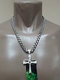 Серебряная цепочка с крестиком Торетто, фото 4