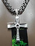 Серебряная цепочка с крестиком Торетто, фото 5