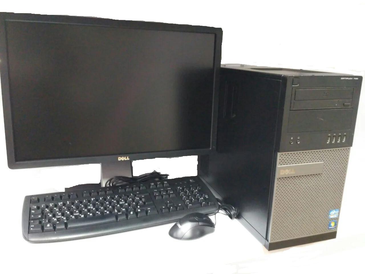 Компьютер в сборе, Core i7-2600, 4 ядра по 3.40 ГГц, 16 Гб ОЗУ DDR3, HDD 500 Гб, Видеокарта 4 Гб, мон 24 дюйма