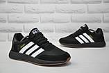 Кросівки чоловічі чорні в стилі Adidas iniki runner Black, фото 4