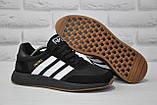 Кросівки чоловічі чорні в стилі Adidas iniki runner Black, фото 6