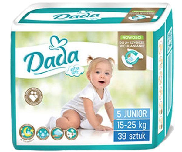 Детские подгузники Dada Extra Soft 5 Junior (15-25 кг), 39 шт. 01464