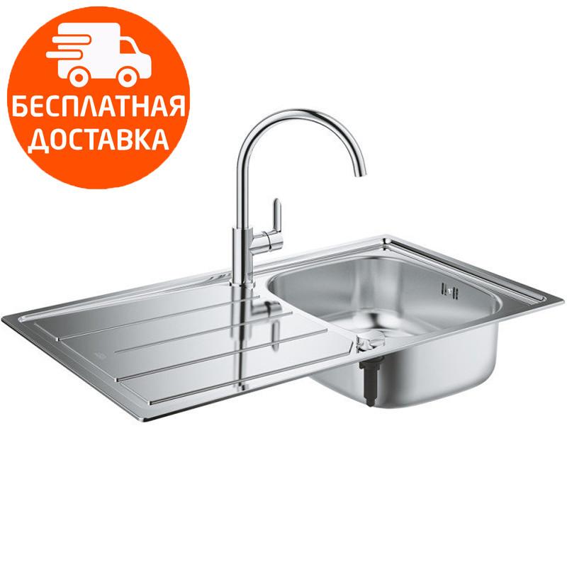 Мойка для кухни + смеситель Grohe EX Sink K200 31562SD0 нержавеющая сталь