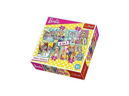 Пазл 4 в 1 Trefl Барбі (Barbie), фото 2