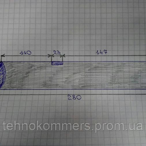 Шкворень поворотного кулака FAW 3252 (D=48;L=280), фото 2