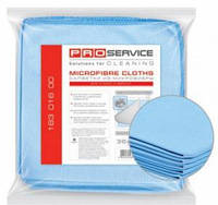 Набір серветок-мікрофібра- 5шукт для скла, дзеркал 35х35сантиметрів , PRO-service ,(46560)