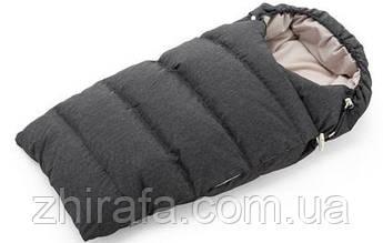 Пуховой конверт Winter Sleeping Bag Stokke.  Black Melange