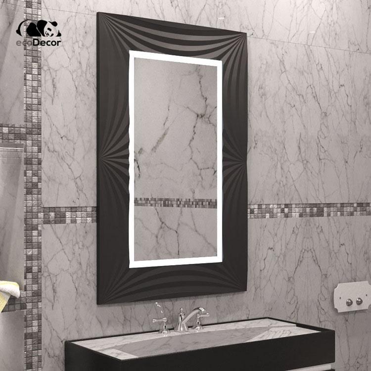 Зеркало с подсветкой черное  Amaro