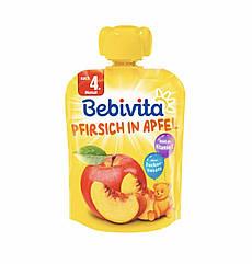 Фруктовое пюре персик-яблоко  Bebivita(Бебивита)с 4 месяцев,90 г