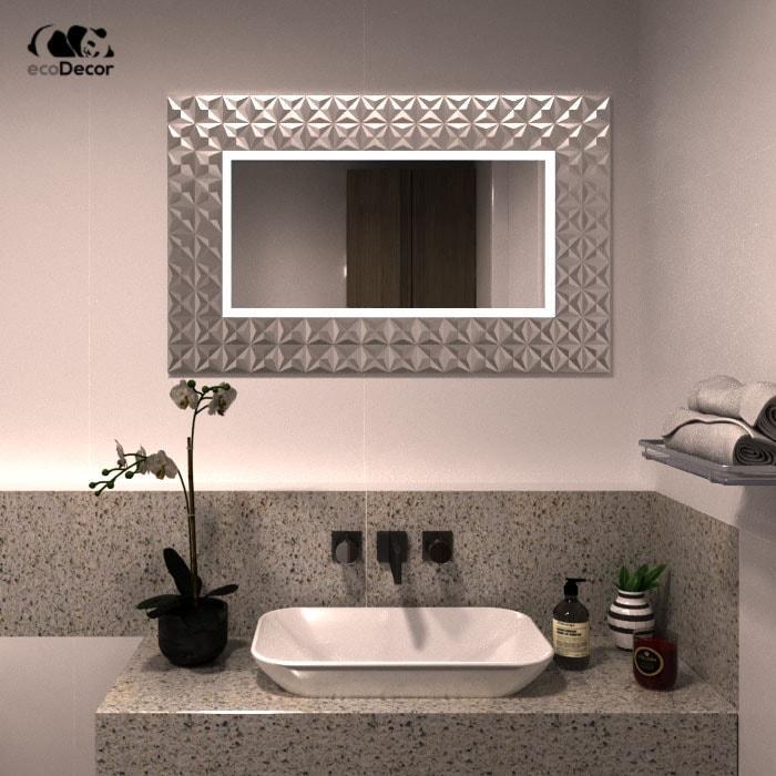 Зеркало в ванную серебряное Daiano P2
