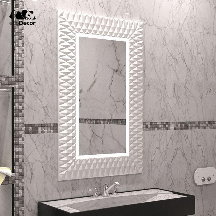 Зеркало в ванную белое Daone