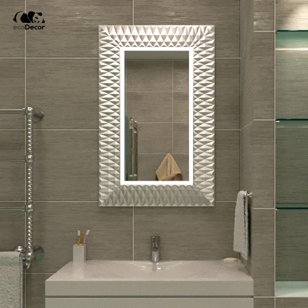 Зеркало в ванную серебряное Daone P2