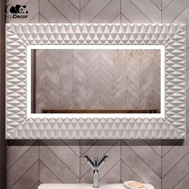 Зеркало с подсветкой белое Daone