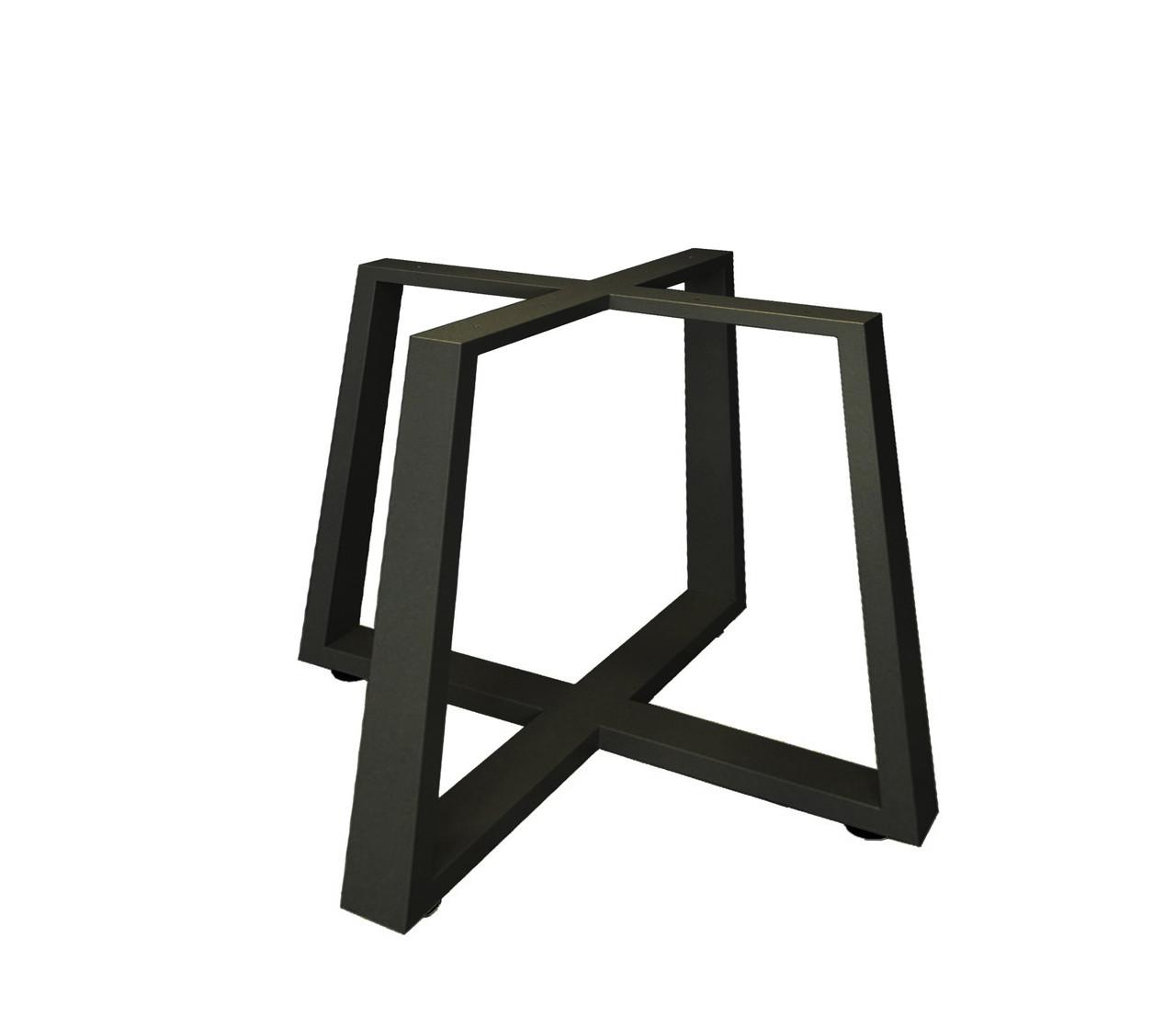 """Дизайнерские металлические опоры """"X-track black"""" для столика в стиле loft"""