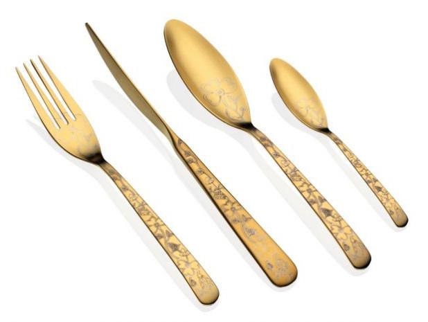 Набор столовых приборов 1/24 HERDMAR ALFA GOLD Nº 1 (ALG24-1)
