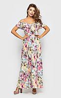 Воздушное летнее платье с цветочным принтом Легкое летнее платье Santali Украина S Фиолетовый романтический