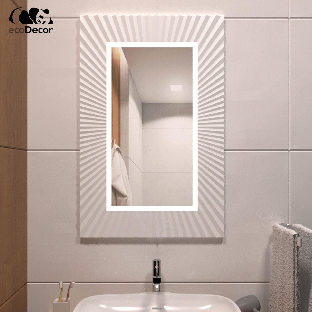 Зеркало в ванную белое Donato