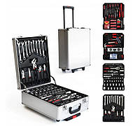 Набор инструментов 186 предметов в чемодане на колесах