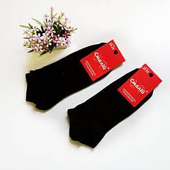 Женские короткие однотонные носки Смалий/ Украина, Рубежное черный