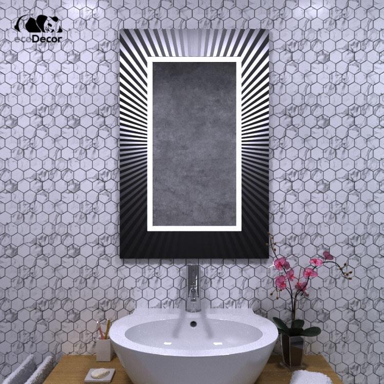 Зеркало с подсветкой черное Donato