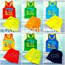 Летний детский комплект для мальчика майка-борцовка и шорты 1,2,3,4,5,6,7,8,9 лет