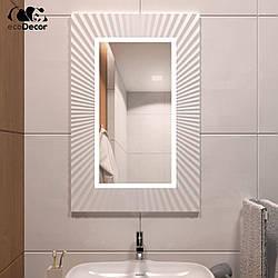 Дзеркало з підсвічуванням біле Donato P2