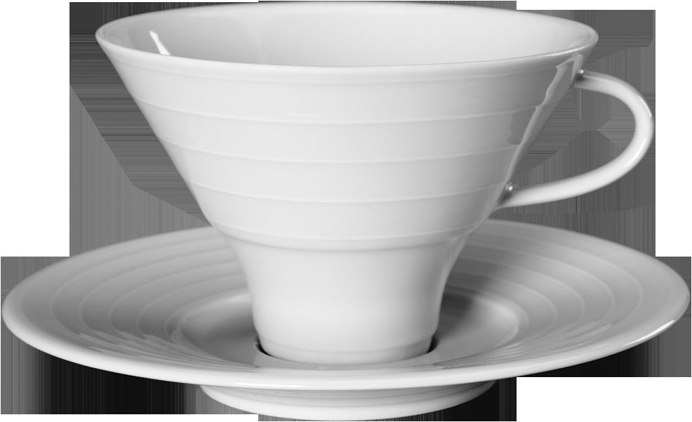 Чашка з блюдцем для чаю 240 мл/15см SUITE