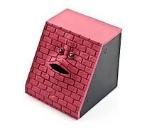 Копилка мордочка в стене Facebank красная
