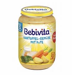 Мясо-овощное пюре картофель,овощи с индейкой Bebivita(Бебивита)с 8 месяцев,220 гр