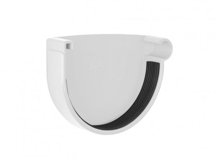 Заглушка желоба Profil Д=130мм ПРАВАЯ, цвет белый