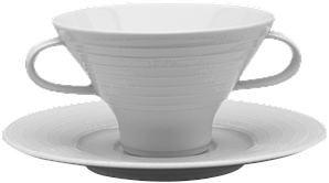 Чашка з блюдцем для бульйону 290 мл/18см SUITE