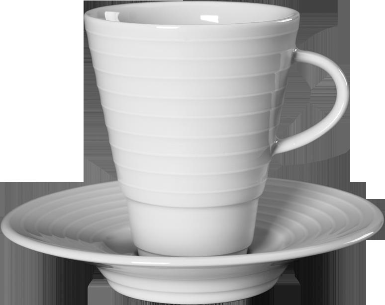 Чашка з блюдцем для кави 90 мл/11см SUITE