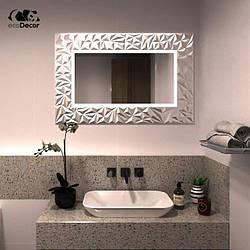 Дзеркало у ванну срібне Verona P2