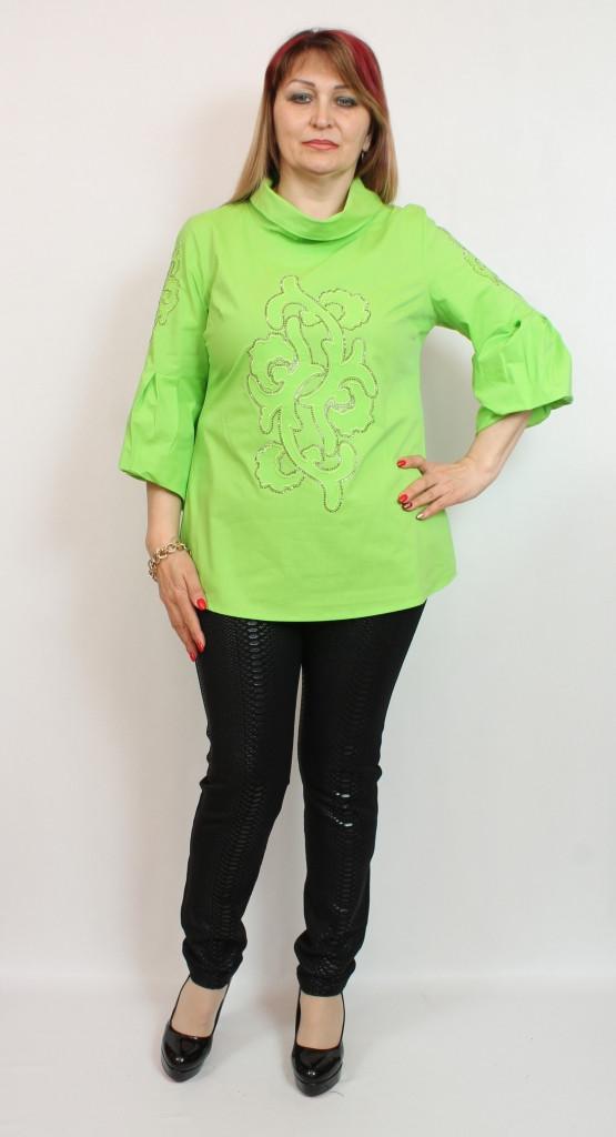 Турецкая летняя женская блузка, размеры 50-56