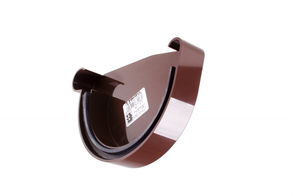 Заглушка желоба Profil Д=130мм ЛЕВАЯ, цвет коричневый