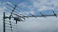 Антенна ДМВ 14 элементов наружная с усилителем