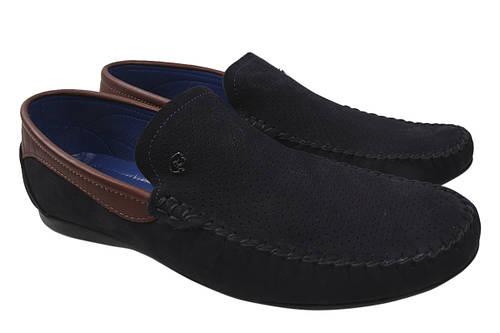 Туфли мужские Max Step натуральный нубук, цвет синий, размер 40-45 Турция