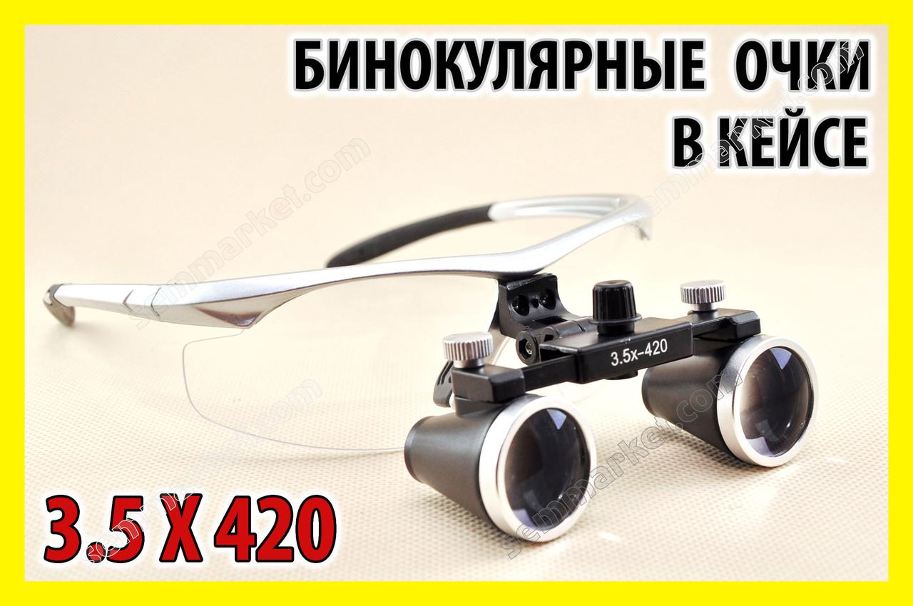 3.5 X 420 Медицинские бинокулярные очки лупа линза ювелира увеличительная линза лупа окуляр оптика