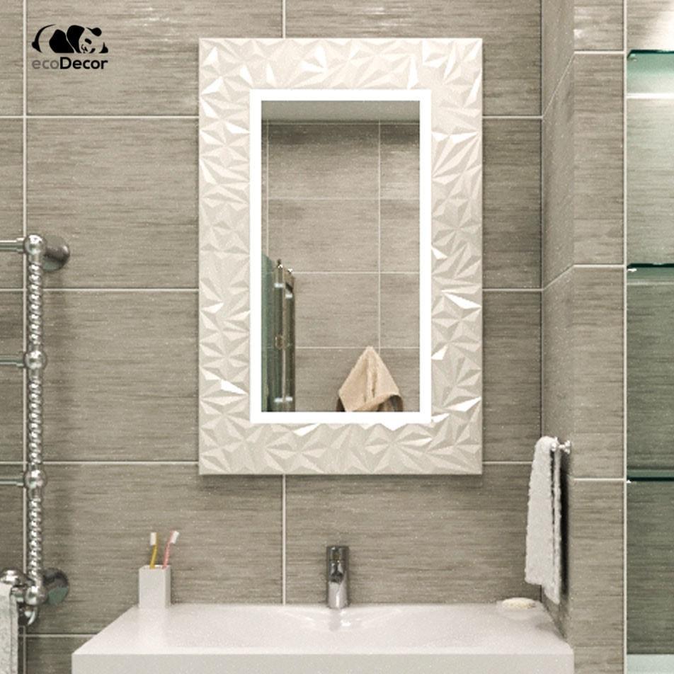 Зеркало в ванную белое Verona P2