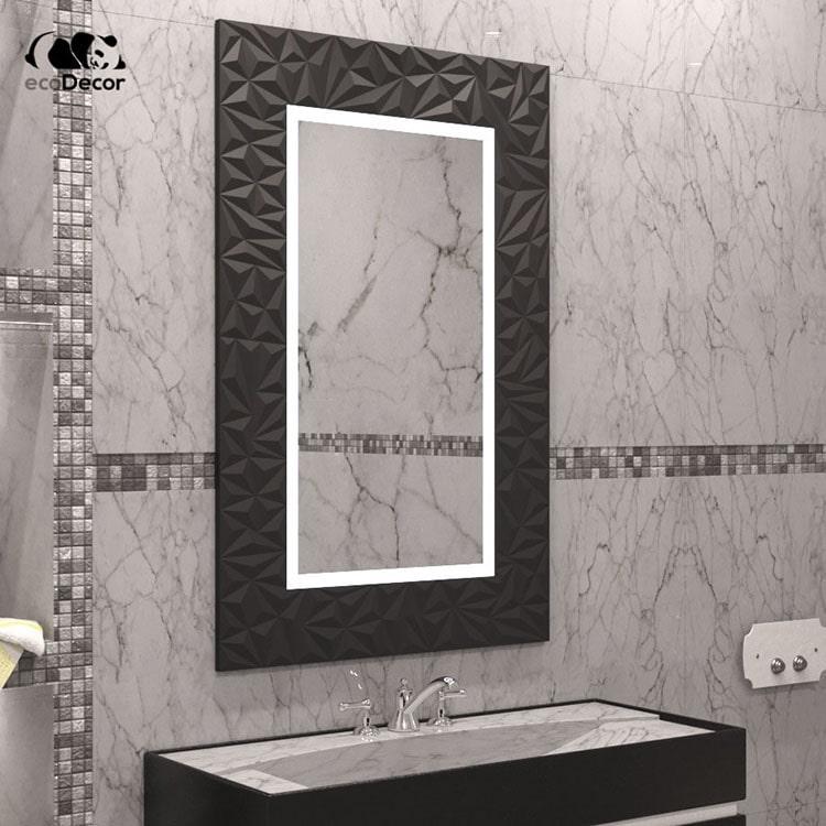 Зеркало с подсветкой черное Verona