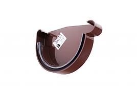Заглушка жолоба Profil Д=130мм ПРАВА, колір коричневий