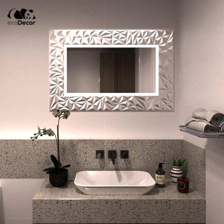 Зеркало с подсветкой серебряное Verona