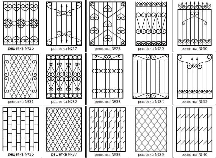Виробництво виготовлення решіток на вікна та балкони - ціна за 1м2