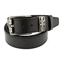 Ремень мужской кожаный SF-408 black (реплика) (135 см)