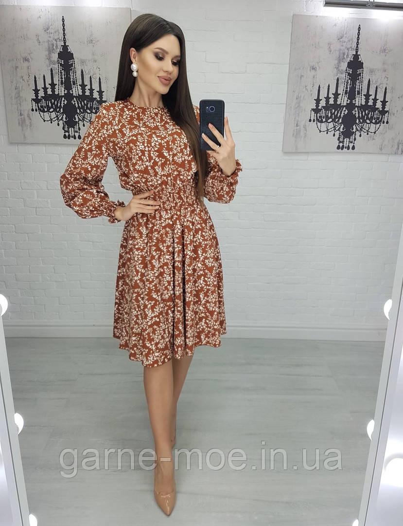 ТК2292/1 Стильное женское платье в узоры