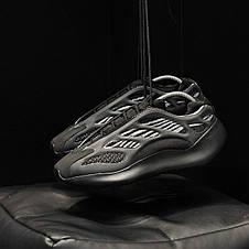 Кроссовки мужские Adidas yeezy 700 v3 черные (Top replic), фото 2