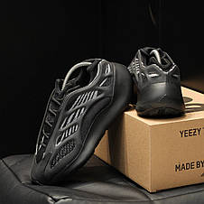 Кроссовки мужские Adidas yeezy 700 v3 черные (Top replic), фото 3
