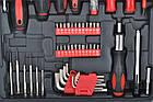 Набор инструментов ключей 187 елементов + молоток + ножницы Польша, фото 9